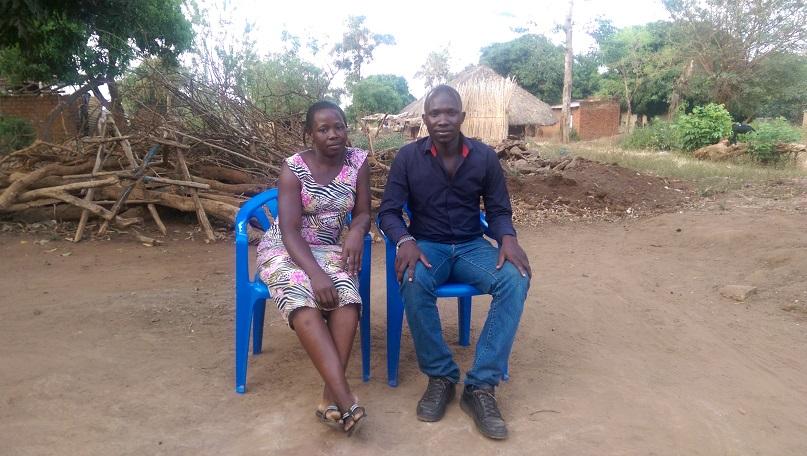 Benedict Okethwengu mit seiner Frau Justine