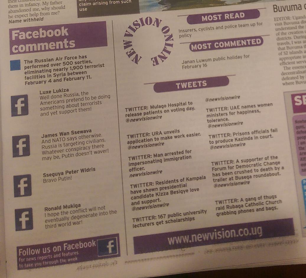 Social Media findet sich auch in den Printmedien wieder.