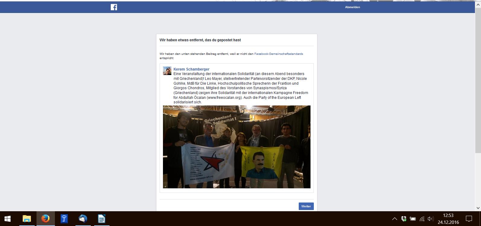 Wieder Facebook-Zensur – es wird immer verrückter