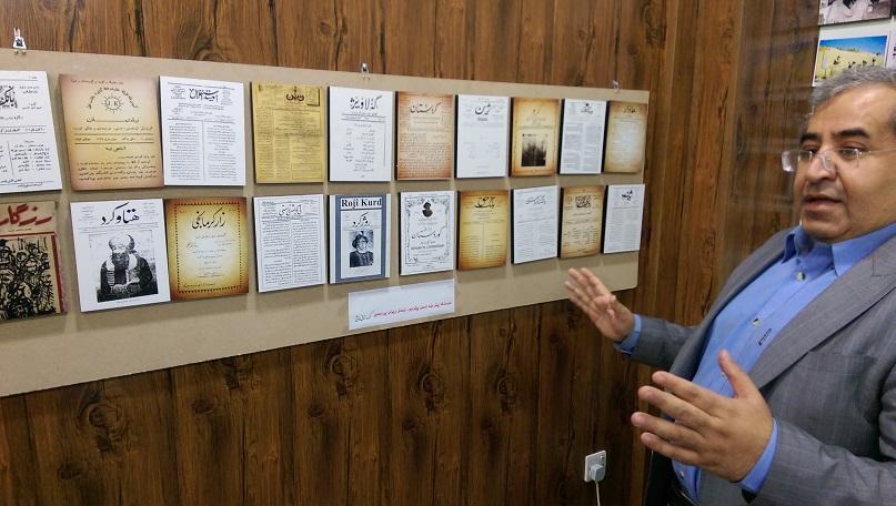 Abbildungen alter kurdischer Zeitungen.
