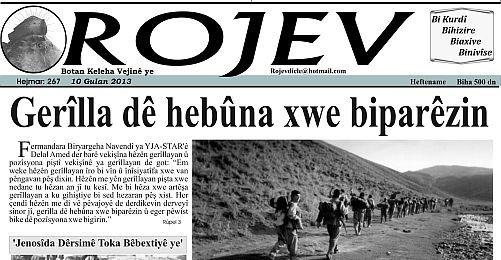 Eine ältere Ausgabe der Wochenzeitung von Machmur namens Rojev.