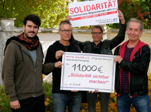 11.000 Euro an Rote Hilfe gespendet